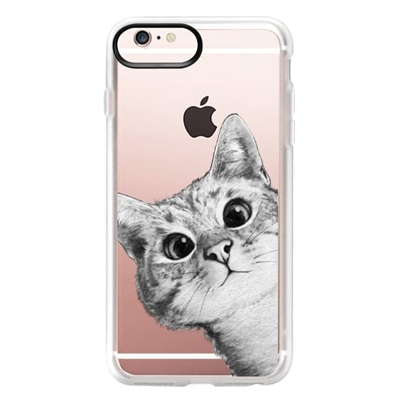iPhone 6s Plus Cases - peekaboo cat on rose gold