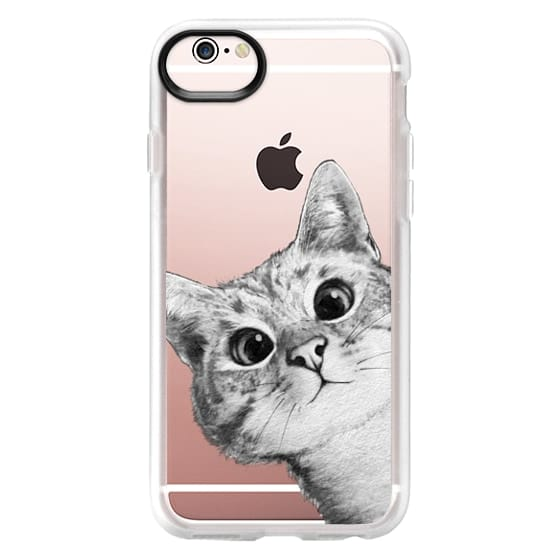 iPhone 6s Cases - peekaboo cat on rose gold