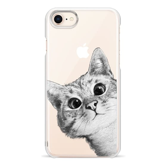 iPhone 8 Cases - peekaboo cat on rose gold
