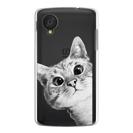 Nexus 5 Cases - peekaboo cat on rose gold
