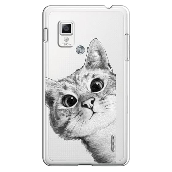 Optimus G Cases - peekaboo cat on rose gold