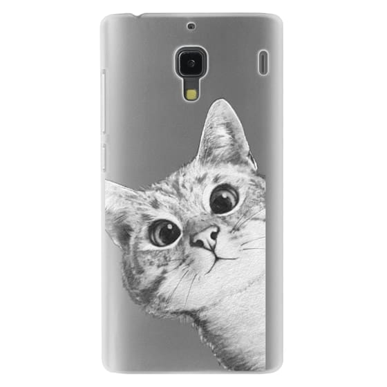 Redmi 1s Cases - peekaboo cat on rose gold
