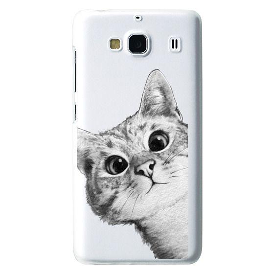 Redmi 2 Cases - peekaboo cat on rose gold