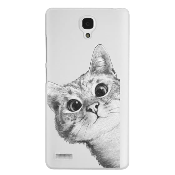 Redmi Note Cases - peekaboo cat on rose gold