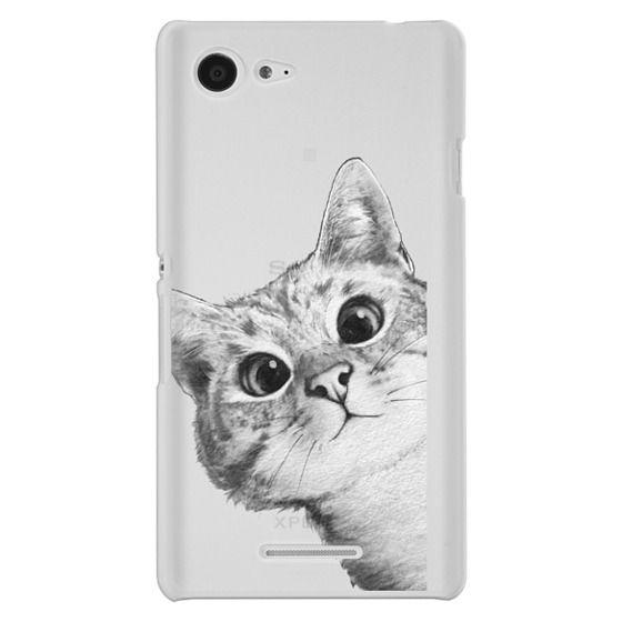 Sony E3 Cases - peekaboo cat on rose gold