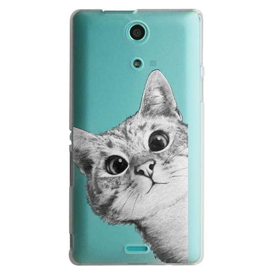 Sony Zr Cases - peekaboo cat on rose gold