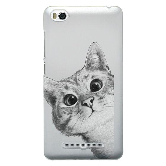 Xiaomi 4i Cases - peekaboo cat on rose gold