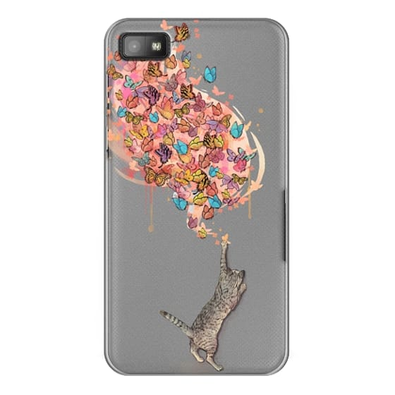 Blackberry Z10 Cases - cat catching butterflies