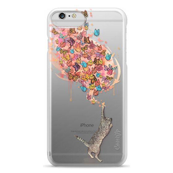 iPhone 6 Plus Cases - cat catching butterflies