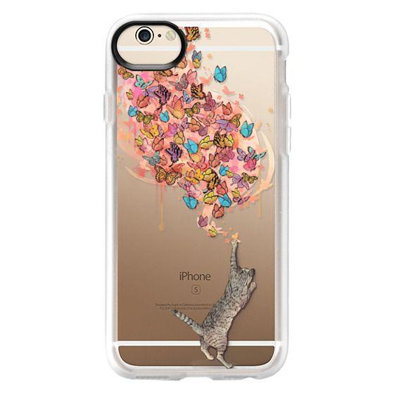 iPhone 6 Cases - cat catching butterflies