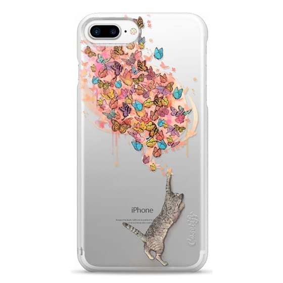iPhone 7 Plus Cases - cat catching butterflies