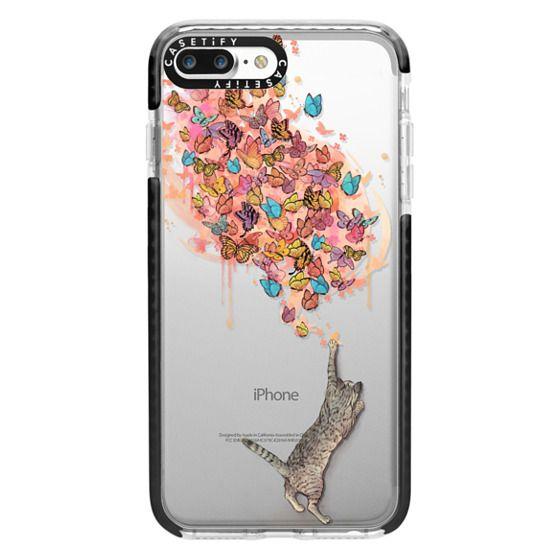 iPhone 7 Plus Cases - cat catching butterflies