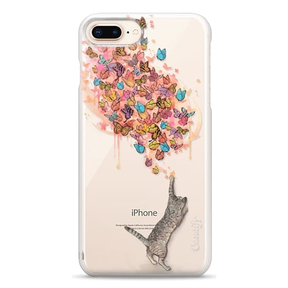 iPhone 8 Plus Cases - cat catching butterflies