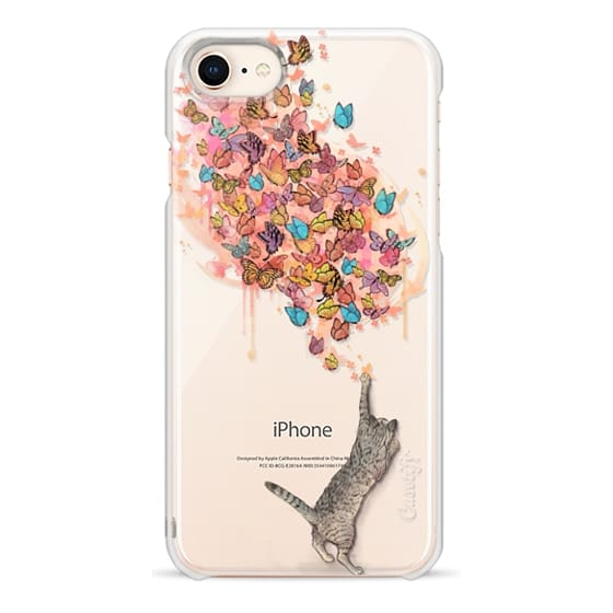 iPhone 8 Cases - cat catching butterflies