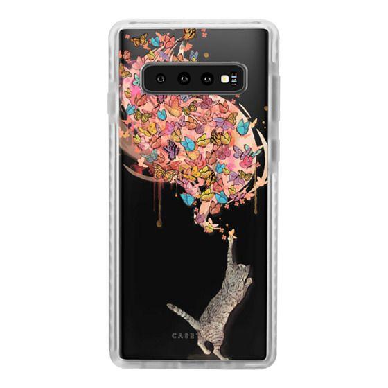 Samsung Galaxy S10 Cases - cat catching butterflies