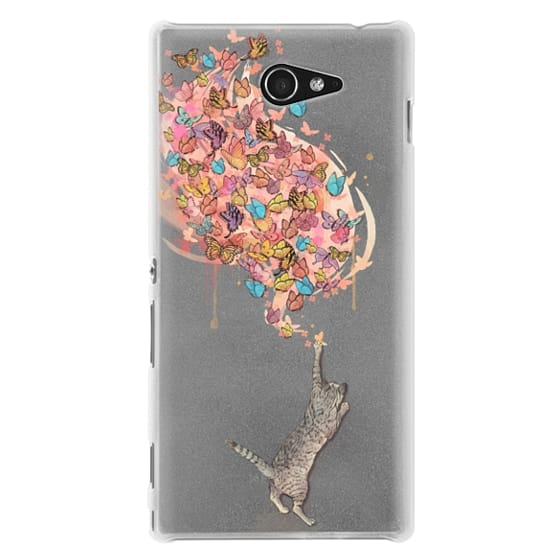 Sony M2 Cases - cat catching butterflies