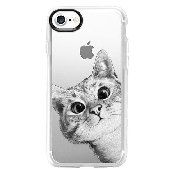 iPhone 7 Cases - peekaboo cat on rose gold