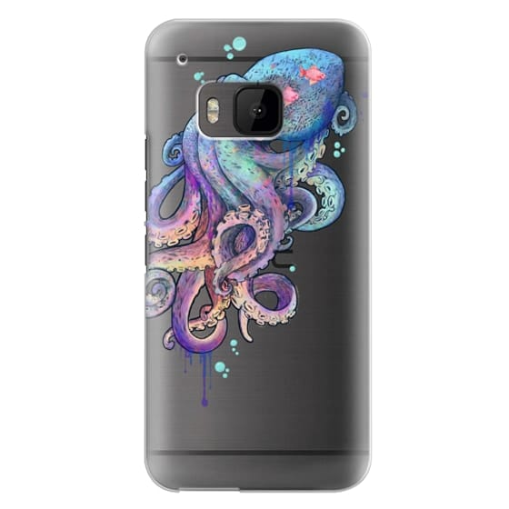 Htc One M9 Cases - nautical rainbow coloured octopus with psychedelic tentacles
