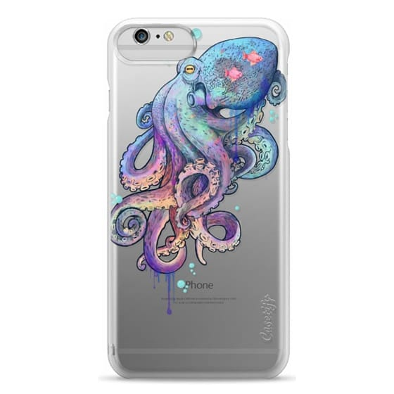 iPhone 6 Plus Cases - nautical rainbow coloured octopus with psychedelic tentacles