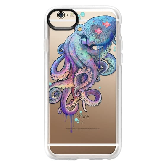 iPhone 6 Cases - nautical rainbow coloured octopus with psychedelic tentacles