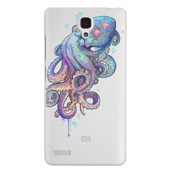 Redmi Note Cases - nautical rainbow coloured octopus with psychedelic tentacles