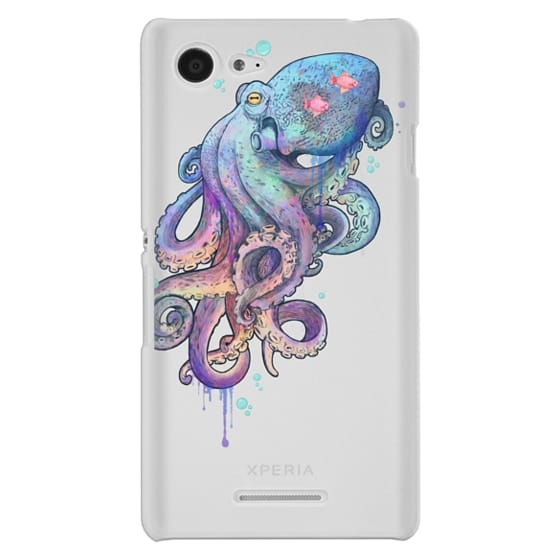Sony E3 Cases - nautical rainbow coloured octopus with psychedelic tentacles