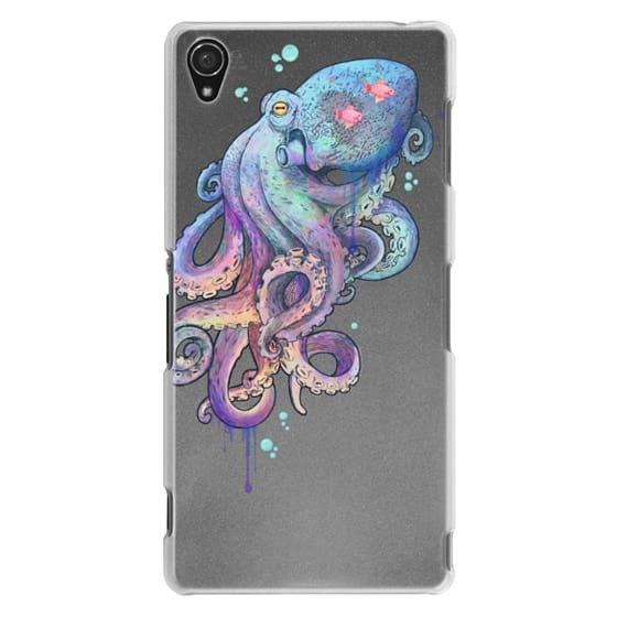 Sony Z3 Cases - nautical rainbow coloured octopus with psychedelic tentacles