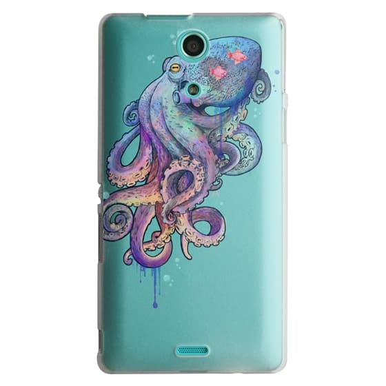 Sony Zr Cases - nautical rainbow coloured octopus with psychedelic tentacles