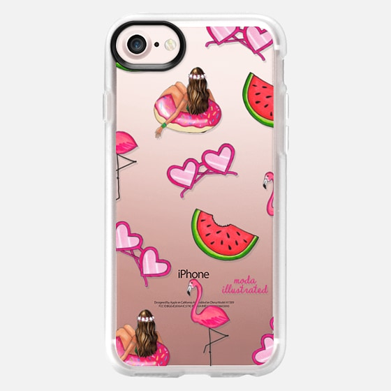 Summer Love Flamingos Floatie and Watermelons -