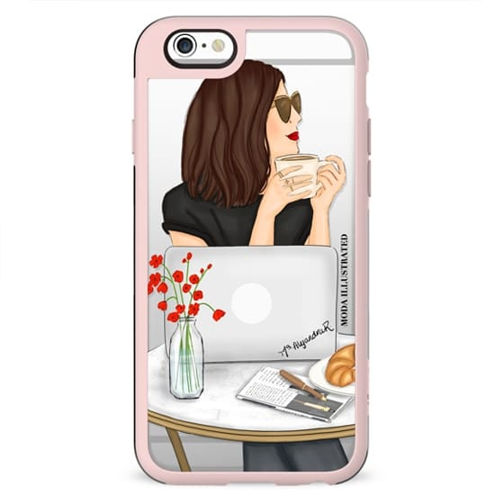 French Cafe Brunette by Moda Illustrated