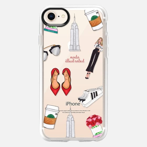 NYC Babe Starbucks Coffee Shoes Empire State by Moda Illustrated - Snap Case