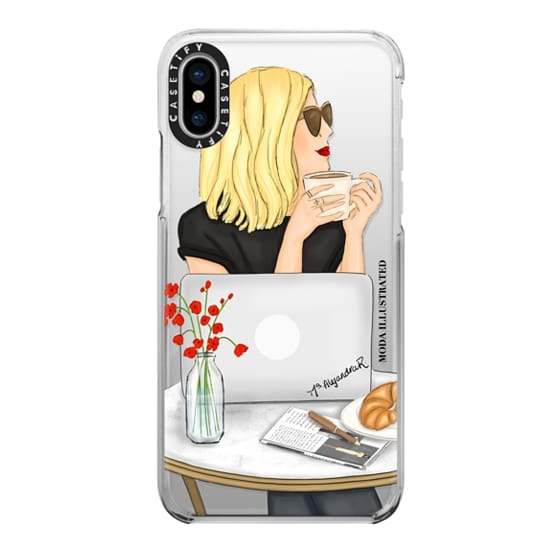 iPhone 6s Cases - French Cafe Blonde by Moda Illustrated