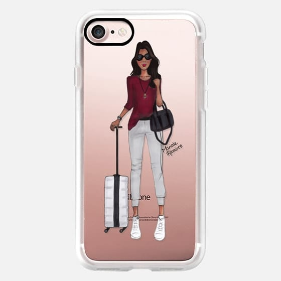 Travel Girl Darker Skin Tone Jetsetter Fashion Illustration by Moda Illustrated -
