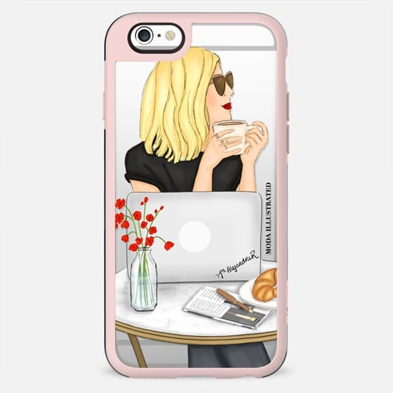 French Cafe Blonde by Moda Illustrated - New Standard Case