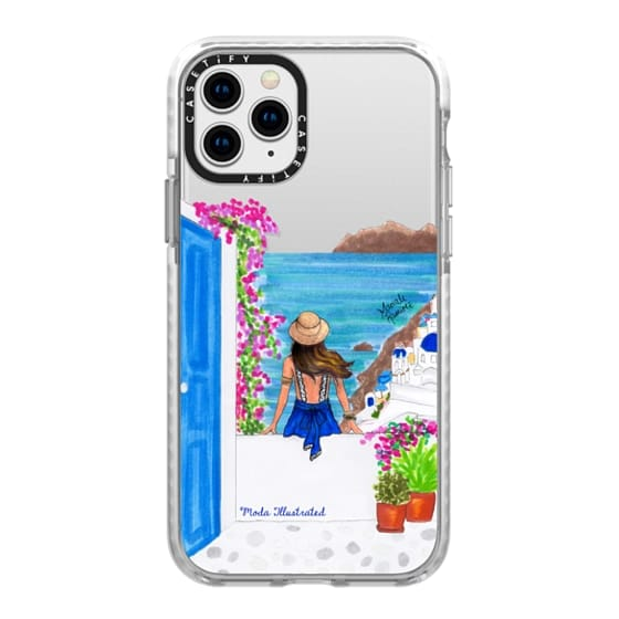 iPhone 11 Pro Cases - Santorini Dream Greece Travel Summer Love Collection by Moda Illustrated