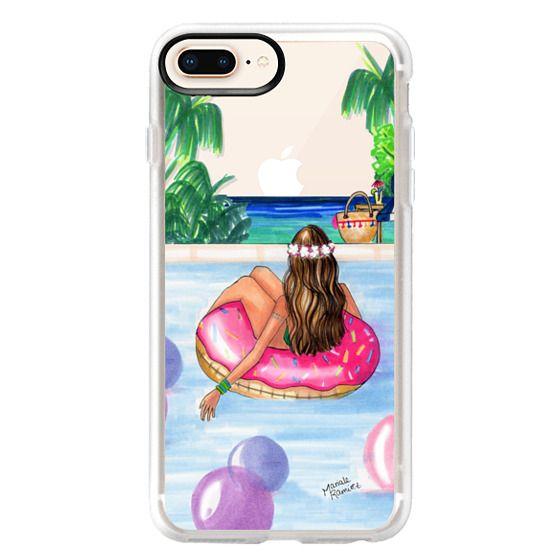 iPhone 8 Plus Cases - Poolside Mermaid (Summer Love)
