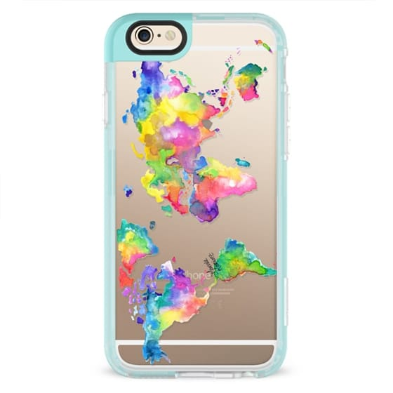 iPhone 4 Cases - Watercolor My World