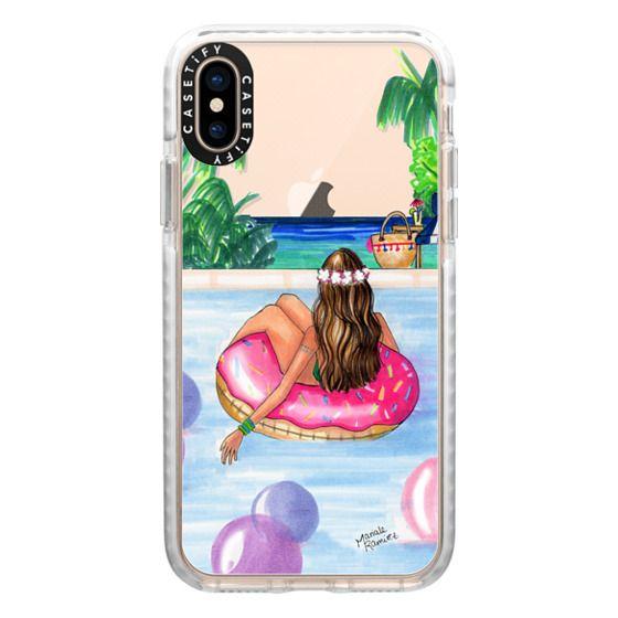 iPhone XS Cases - Poolside Mermaid (Summer Love)