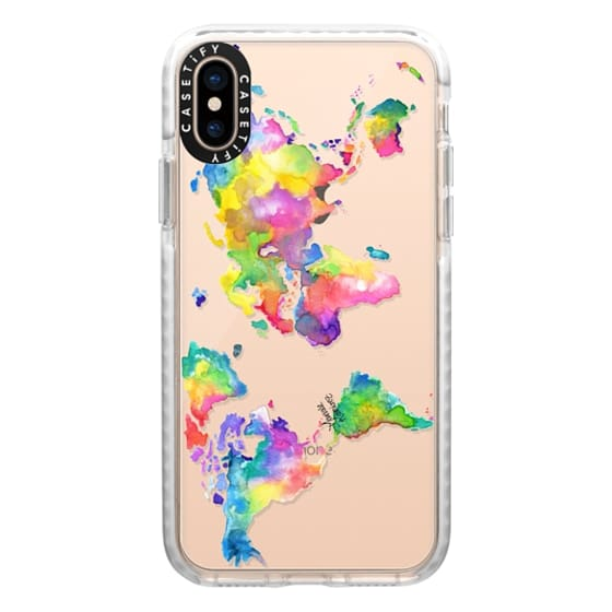 iPhone XS Cases - Watercolor My World