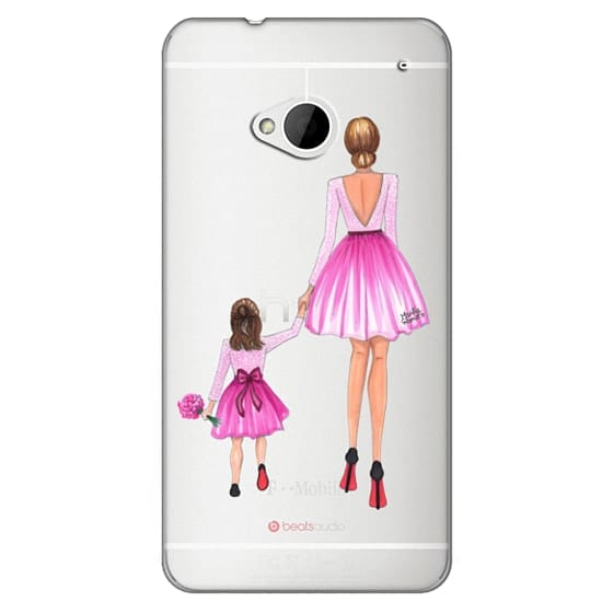 Htc One Cases - Mother Daughter Love (Pink)