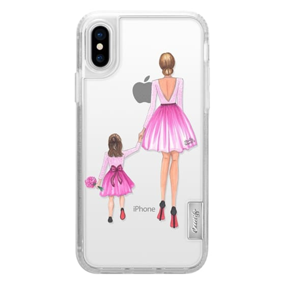 iPhone X Cases - Mother Daughter Love (Pink)