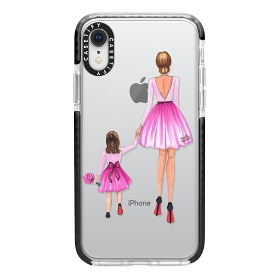 iPhone XR Cases - Mother Daughter Love (Pink)