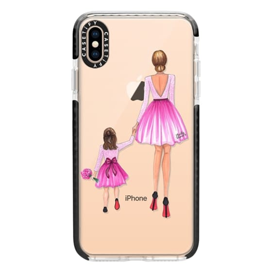iPhone XS Max Cases - Mother Daughter Love (Pink)