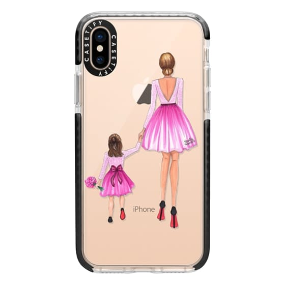 iPhone XS Cases - Mother Daughter Love (Pink)