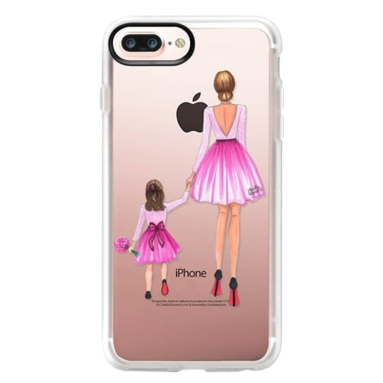 iPhone 7 Plus Cases - Mother Daughter Love (Pink)