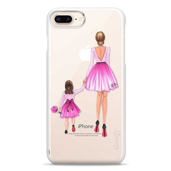 iPhone 8 Plus Cases - Mother Daughter Love (Pink)
