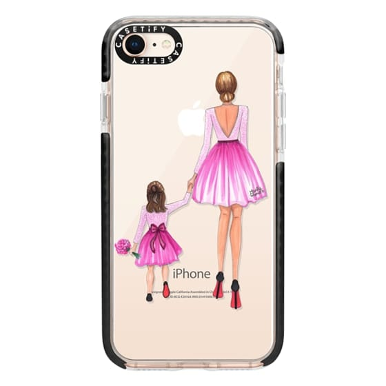 iPhone 8 Cases - Mother Daughter Love (Pink)