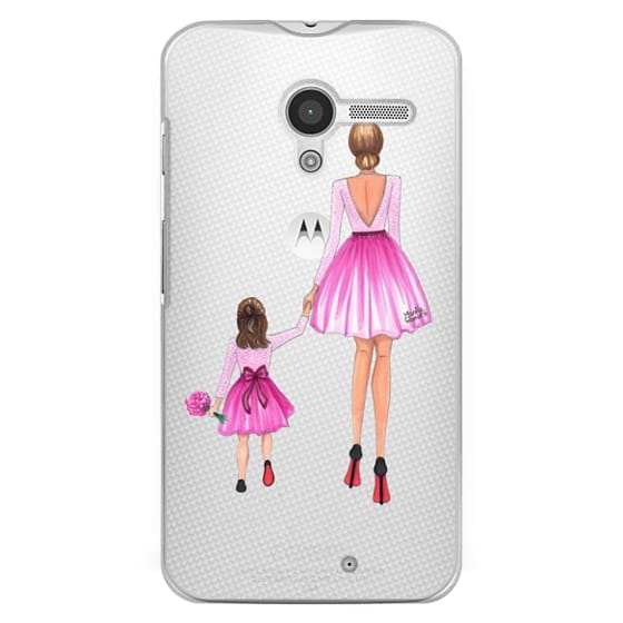 Moto X Cases - Mother Daughter Love (Pink)