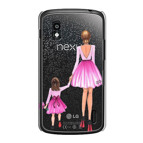 Nexus 4 Cases - Mother Daughter Love (Pink)