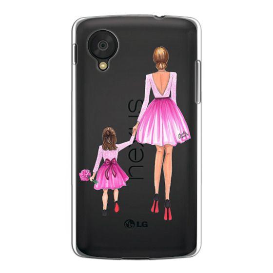 Nexus 5 Cases - Mother Daughter Love (Pink)